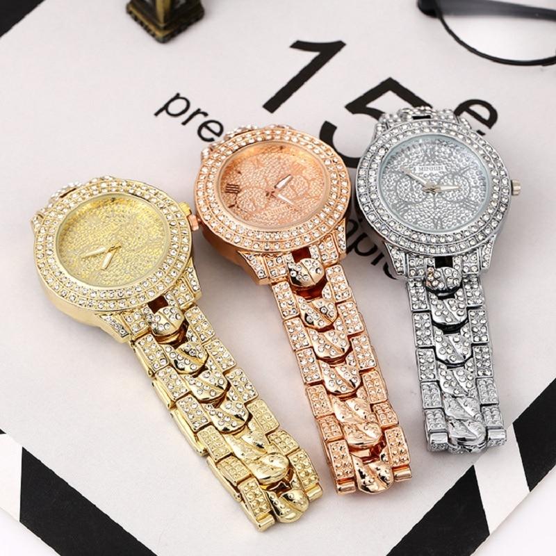 2020 Luxury Ladies Watch Diamond Ladies Watch Quartz Ladies Watch Rose Gold Stainless Steel Clock Watch Ladies Relogio Feminino