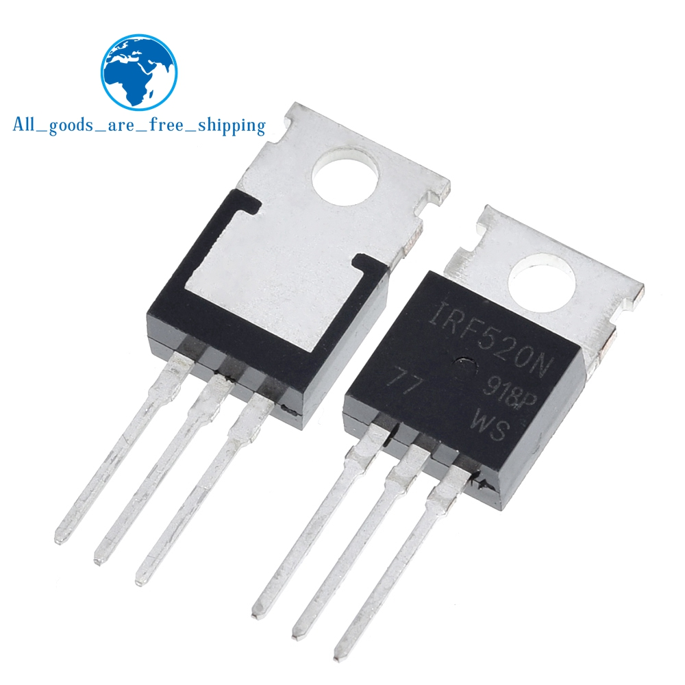 20Pcs IRF520 IRF520N TO-220 N-Channel IR Power MOSFET new