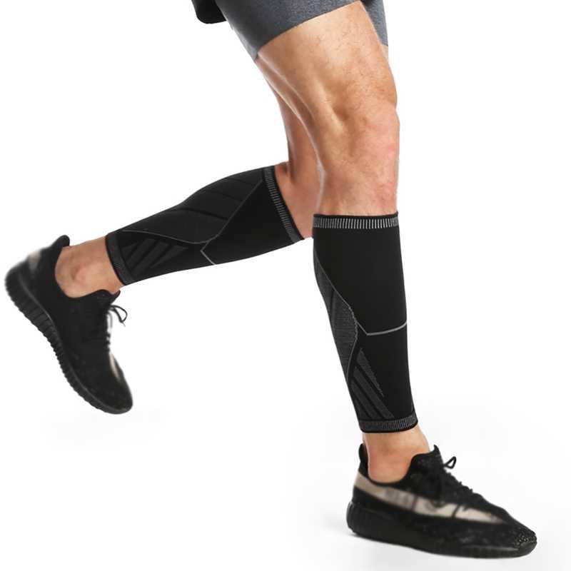1 ADET Bisiklet Bacak Isıtıcıları Spor Koruyucu Buzağı sıkıştırma kolları Profesyonel Çalışan Güvenlik Bacak Isıtıcıları Spor diz pedleri