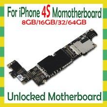 8GB 16GB 32GB 64GB per il iphone 4 4S Scheda Madre con Pieno sbloccato SENZA ID Per iphone 4 4S Logic board con il Sistema, buona Testato