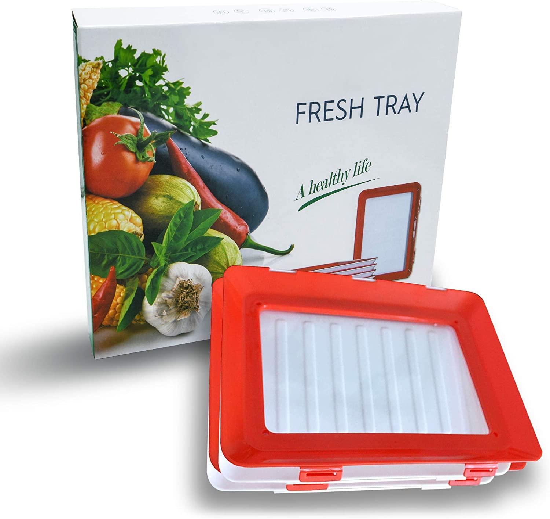 8 шт творческие Еда: отделение для хранения Пластик Еда Набор органайзеров для хранения свежих Еда сервировочный поднос Кухня накладки декоративный поднос-5