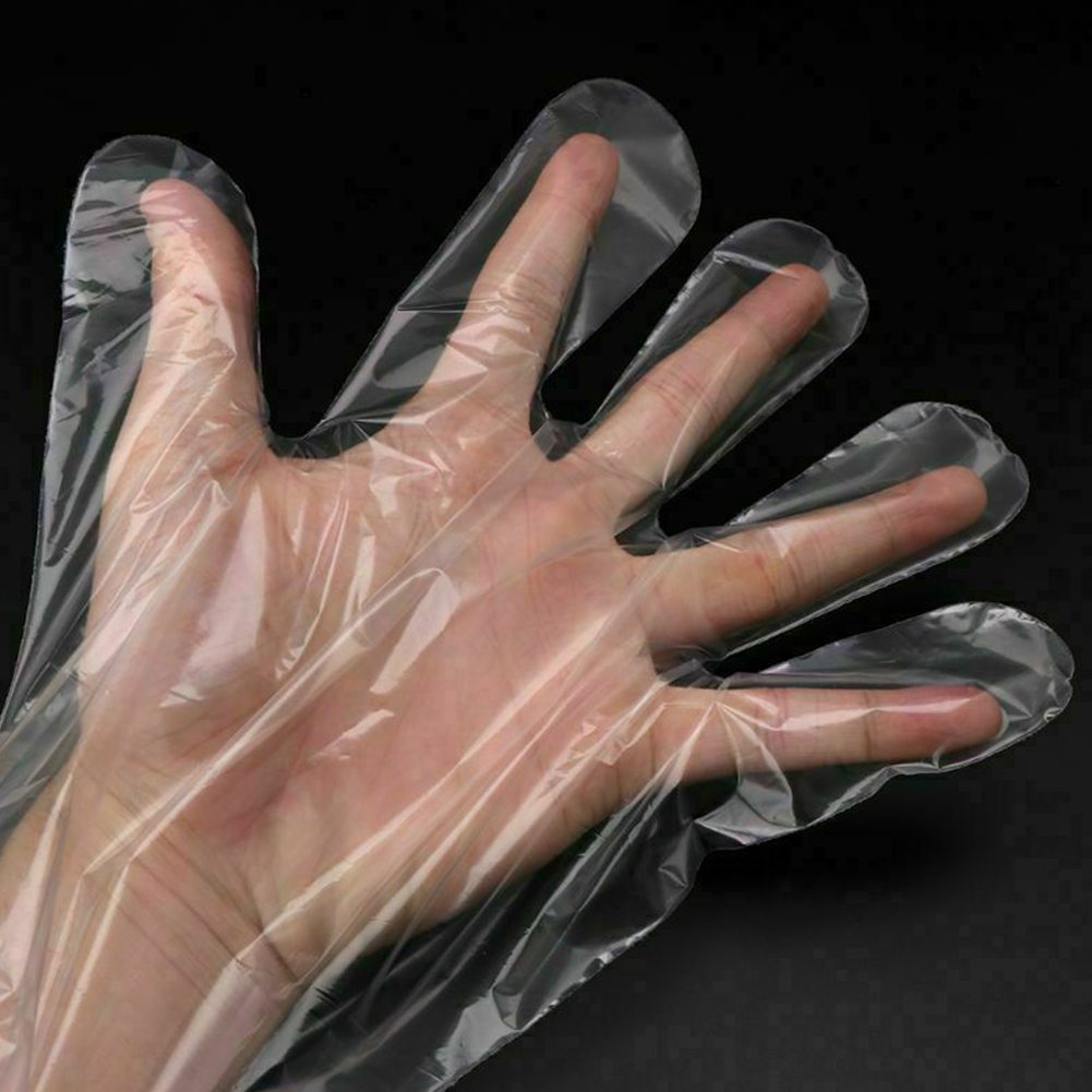 Image 3 - 50 Pcs/Bag Disposable Gloves Soft Plastic Film Long Arm 
