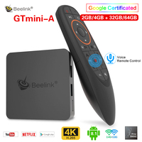 Beelink GTmini A Android 8.1 Smart TV Box Amlogic S905X2 Set Top Box 4G 64GB dual band WiFi 2.4G Voice Remote Support Netflix 4K