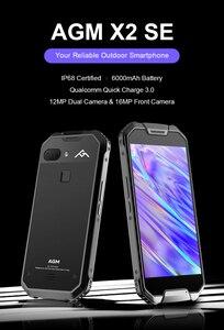 AGM X2 SE IP68 прочный телефон 6G 64G MSM8976SG Восьмиядерный Android 7,1 задний двойной 12MP передний 16MP 5,5
