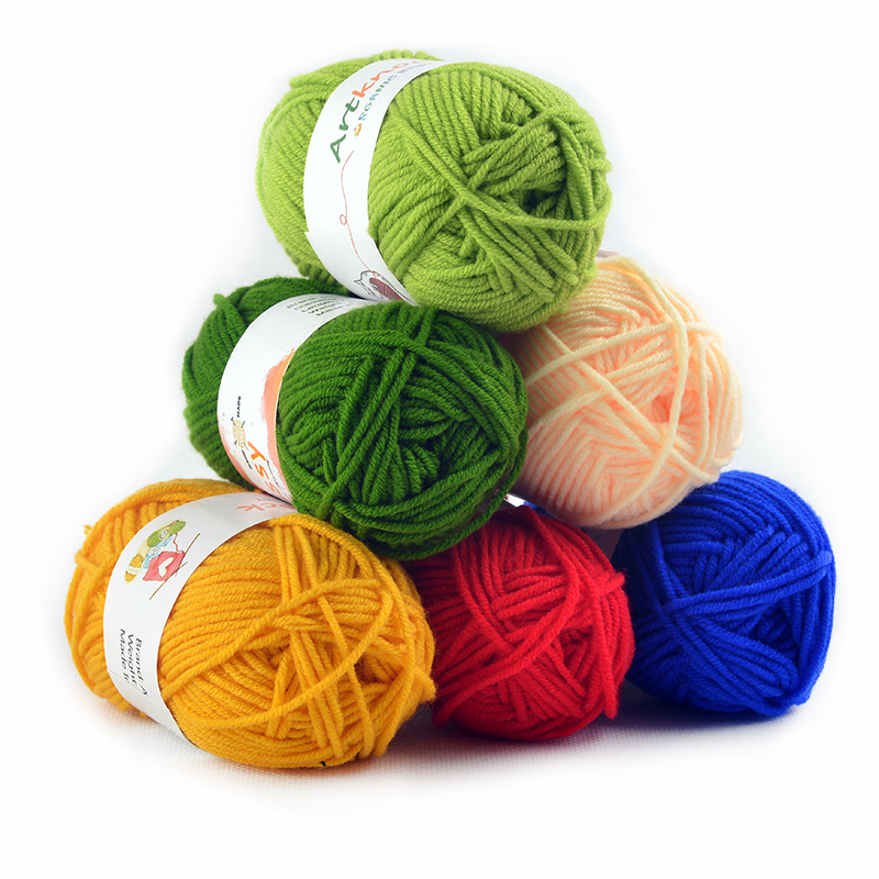 16pcs Cotton Yarn Crochet Yarn For Hand Knitting Sweater Socks 25grams/pc Suggest Crochet Needle No.3
