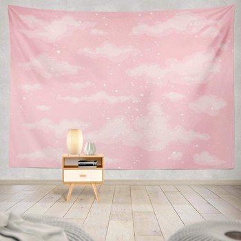 Różowe niebo gobelin wystrój gobelin śliczne niebo różowe niebo chmura powietrze tło piękno jasny dzień wiszące gobeliny ścienne do pokoju tanie i dobre opinie CN (pochodzenie) Poliester Bawełna