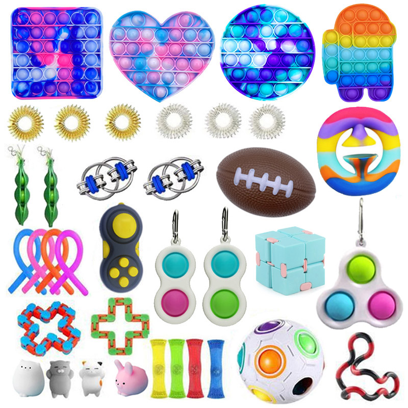 Fidget-Toys Strings Relief-Pack Anti-Stress-Set Pop-It Squishy Children Gift Adults img2