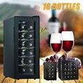 16 бутылок холодильник для вина Герметичный Пивной Напиток Профессиональный термостатический винный шкаф для коммерческих/бытовых