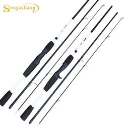 Sougayilang przenośne 3 sekcje Spinning/wędka rzutowa 1.75m bardzo lekka przynęta wędka wędkarska Pesca w Wędki od Sport i rozrywka na