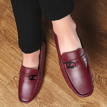 Leather men shoes spring and summer casual shoes zapatos de hombre  men designer sneakers for men mens leather shoes