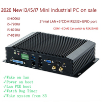 6 COM Dual LAN Fanless Mini PC Intel 4GEN RS232,422,485 COM USB WIFI industrial PC Desktop Computer