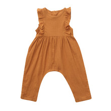 Get more info on the New Born Baby Clothes Summer Infant Baby Boys&Girls Sleeveless Ruffles Solid Print Romper Jumpsuit 9.4