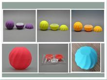 مجموعة من 100 فارغة مستحضرات التجميل الكرة الحاويات 7g 5 ألوان الشفاه بلسم جرة العين لمعان كريم عينة حافظة أحمر برتقالي أرجواني أخضر وردي