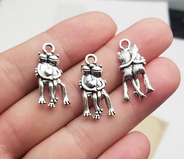 10 Koala charms Antique silver plated charms G24110 19x14mm