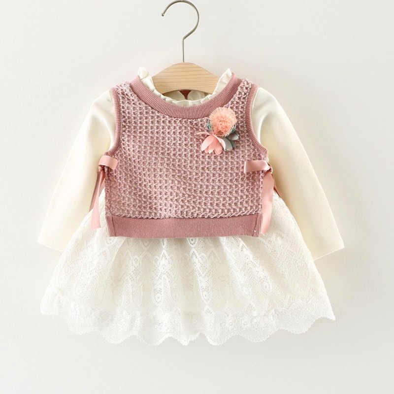 Melario Bayi Gadis Gaun Musim Semi Bayi Gadis Putri Pakaian Lucu Anak Perempuan Lengan Panjang T-Shirt Tops Kartun Jerapah Gaun 2 Pcs suit