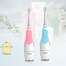 SEAGO Kid Electric Toothbrush Waterproof Battery Powered Sonic Tooth Brush Smart Timer Safety Soft Bristles for Child Oral Care