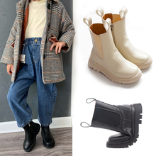 Children Chelsea Boots Kids Girls Martin Boots Casual Autumn Winter PU Leather School Boy Shoes Fashion In Snow Boots 2020 NEW