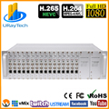 3U Rack 16 Channels SD HD 3G SDI To TS Stream Encoder IPTV H.265 H.264 Hardware Encoder IPTV Encoder SDI To IP Converter