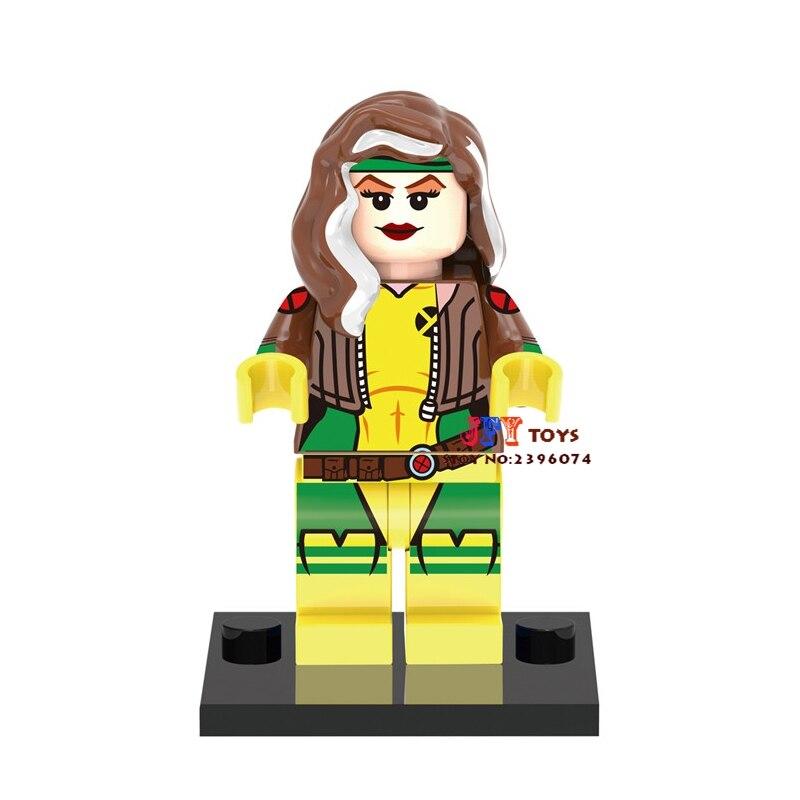 Single Sale Superhero Marvel X-Men Rogue Building Blocks Model Bricks Toys For Children Action Figures