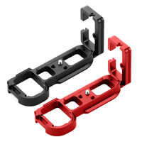 Alliage d'aluminium professionnel à dégagement rapide plaque à rotule QR plaque verticale L support pour caméra Sony a7 A7R ARCA Standard