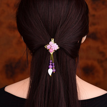 Seashell Resin Flower Hairpin Hair Jewelry Headwear Ornaments Barrettes Women fashion Hair Clip Purple Jade Head Accessory цена и фото