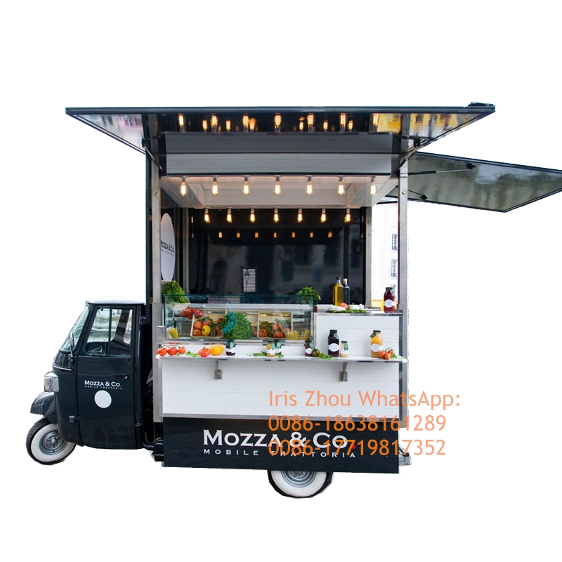 New Ape Piaggio Popular Food Tuk Tuk Electric Mobile Coffee Food Truck For Sale