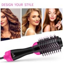 Dropshipping 3 In 1 Hair Brush Women One-Step dry brush Volumizer Dryer Straightener Curler Styling Comb hot comb blow dryer detangling hair wet