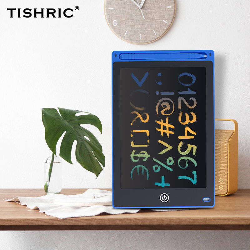 """TISHRIC 8.5""""/10""""/12"""" inch Graphics Tablet LCD Electronic Writing Tablet Pad Eraser Kid Drawing Board Tablet Board Children Gifts"""