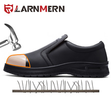 LARNMERN Men's Safety Shoes Work Shoe St