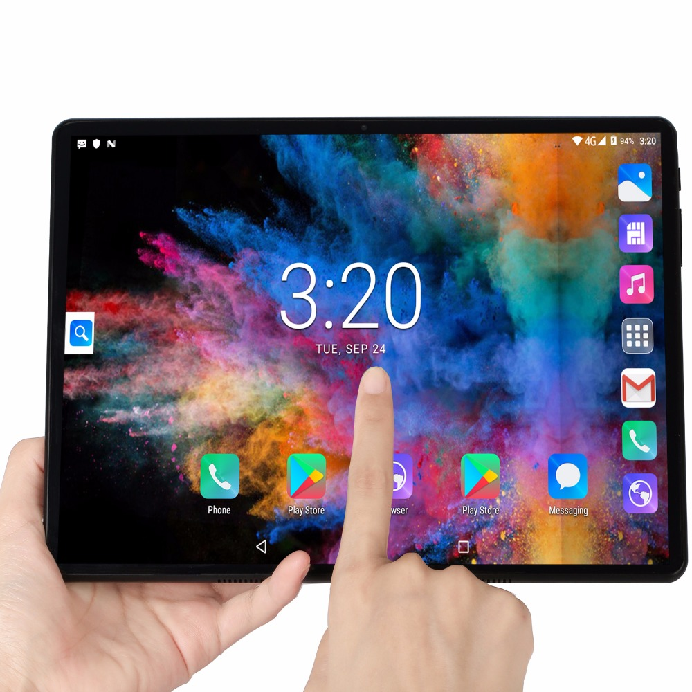 BDF 10 Inch Tablet Pc Octa Core 4G LTE Tablet 4GB RAM 64GB ROM 1280*800 FHD Screen Dual Cameras Android 7.0 Tablets 10.1 9 8