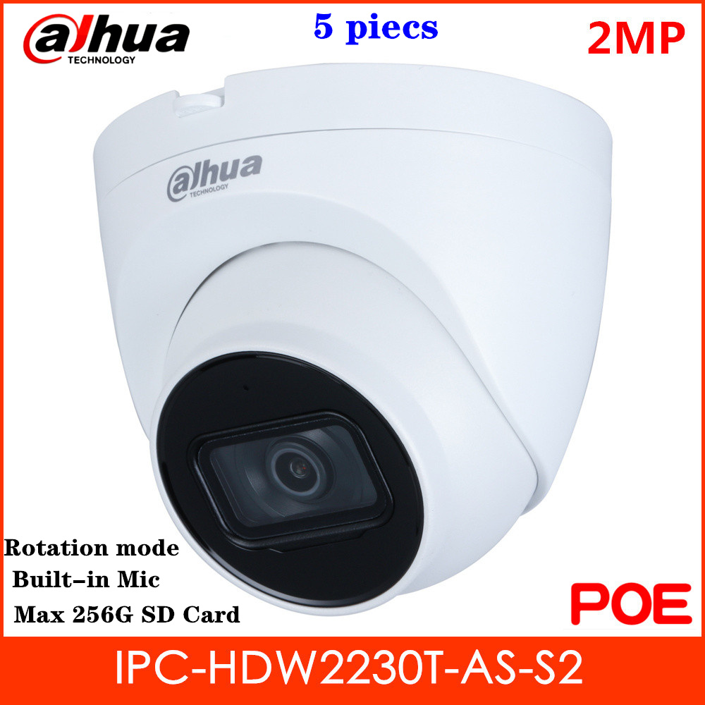 <font><b>Dahua</b></font> <font><b>2mp</b></font> <font><b>IP</b></font> <font><b>Camera</b></font> IPC-HDW2230T-AS-S2 H.265 built-in Mic Rotation Mode Intelligent detection Support POE Replace IPC-HDW1230S image