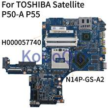 KoCoQin Laptop motherboard For TOSHIBA Satellite P50-A P55 P50 L50 P50T-A GT745M HM87 Mainboard H000057740 N14P-GS-A2(China)