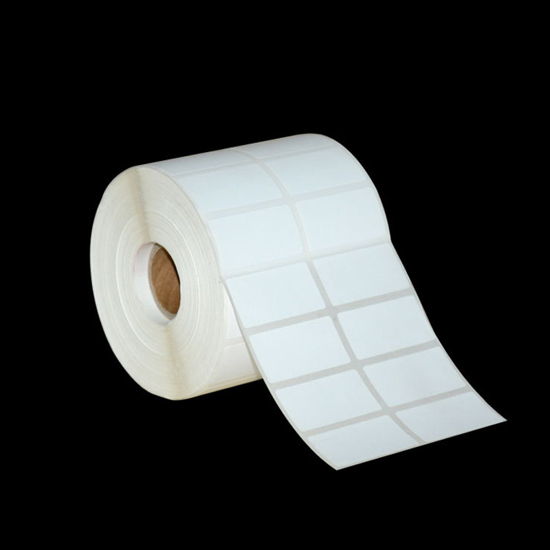 40mm*20mm Blank Copper Plate Sticker Waterproof Copper Plate Paper Label Bar Code Printing Paper Adhesive Copper Plate Sticker