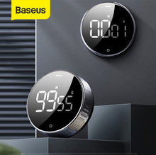 Baseus Magnetic Kitchen Timer Digital Timer Manual Countdown Alarm Clock Mechanical Cooking Timer Cooking Shower Study Stopwatch