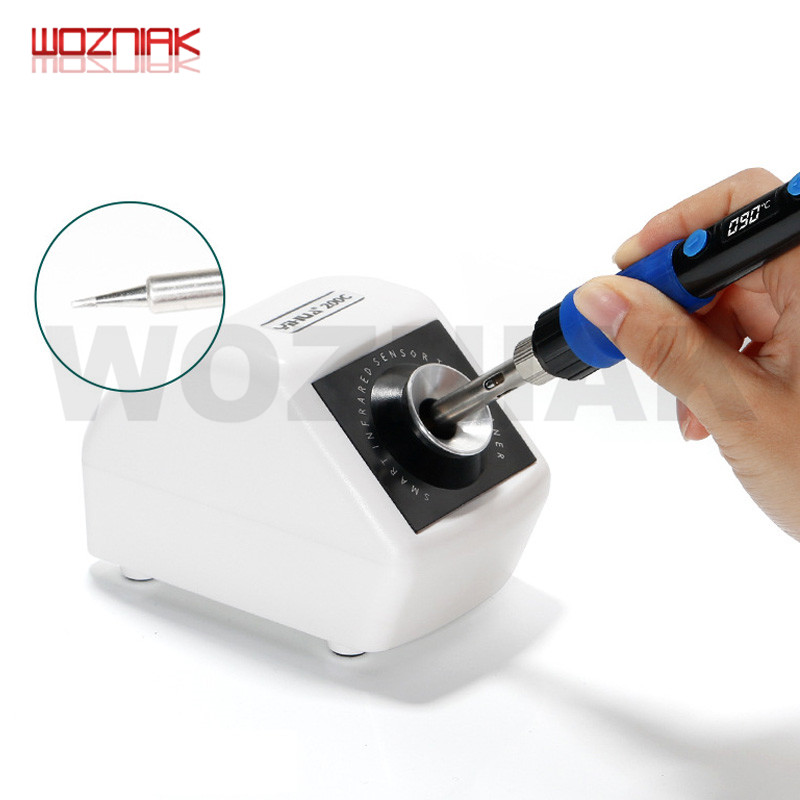 YIHUA 200C Infrared Sensor Smart Induction Soldering Iron Tip Cleaner With Light Weight Iron Tips Cleaning Tool