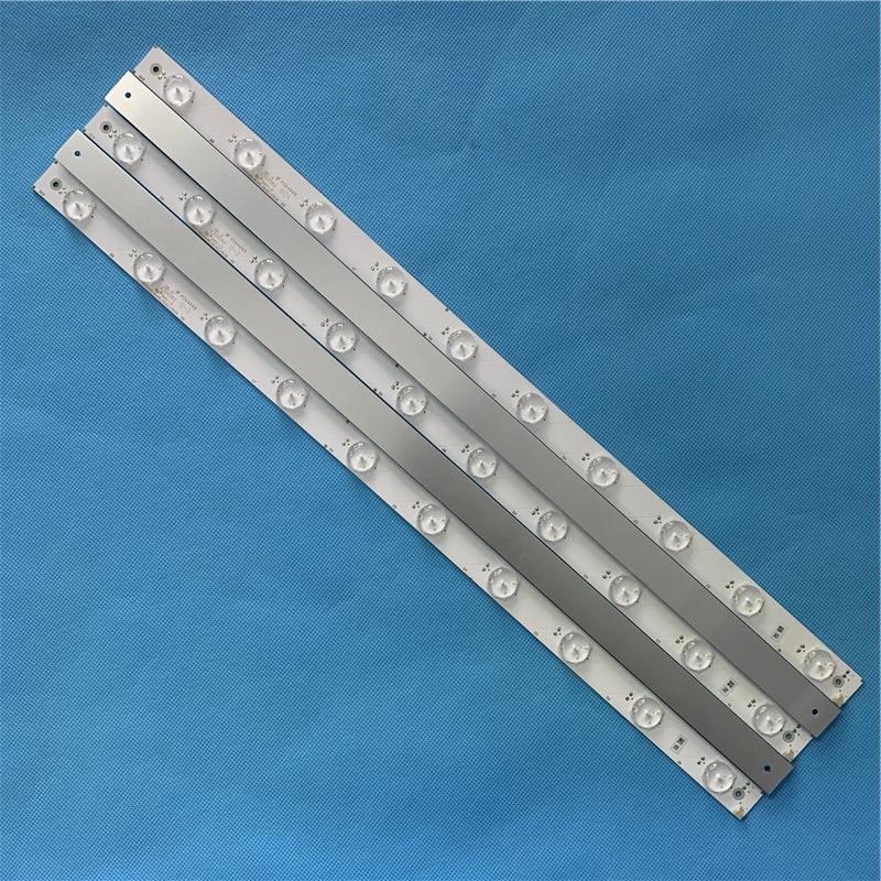 Free Shipping New 5PCS 514MM Aluminum Plate LED Strip 44leds For Samsung 43 Inch TV SVA430A_Rev00_10LED_170118 E320262 Tv Parts