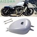 Réservoir de carburant de moto argent 3.3 gallons | Réservoir de gaz d'huile 13 l avec bouchon, Kit de vis pour Harley Sportster XL883 XL1200, tous modèles 2004-06