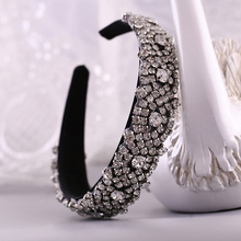 TRiXY S28B-FG  New Wedding Baroque Hair Hoop Bridal Head Piece Vintage Women Rhinestone Hairband Luxury Baroque Headband