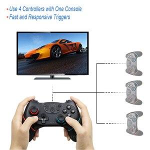 Image 2 - Gamepad sem fio bluetooth para nintendo switch pro ns switch pro controlador de joystick de jogo para console de interruptor com alça de 6 eixos