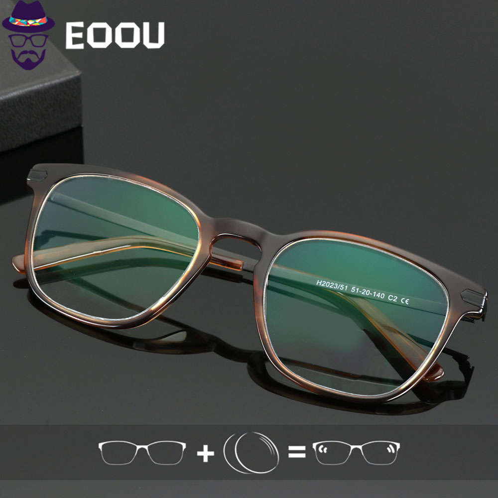 Quality <font><b>Men</b></font> Myopia <font><b>Glasses</b></font> Reading <font><b>Glasses</b></font> acetic acid Frame Photochromic <font><b>Prescription</b></font> Anti blue light Lens <font><b>Progressive</b></font> Lens image