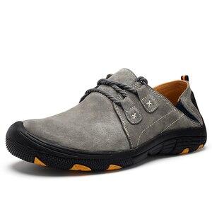 Image 5 - QZHSMY erkek deri rahat ayakkabılar erkek botları nefes dayanıklı ilkbahar sonbahar ayakkabı düz ışıklı ayakkabı büyük boy 38 48
