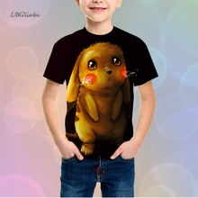 LBG new pet elf cartoon childrens t-shirt 3D printing juvenile T-shirt fashion short sleeve