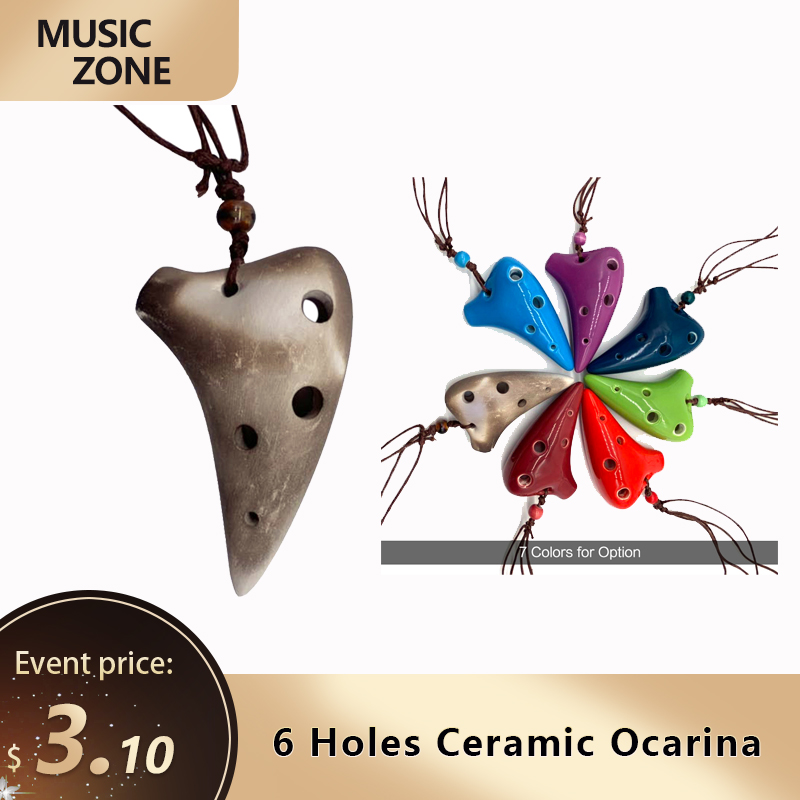 Керамический подводный инструмент Ocarina Alto C с 6 отверстиями, музыкальный инструмент со шнурком, для любителей музыки и начинающих 1