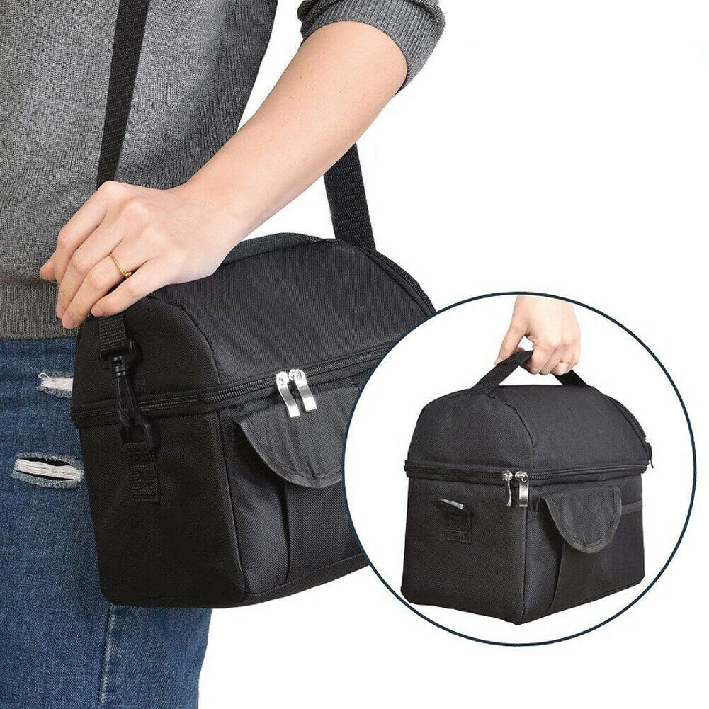 8L Insulated Lunch Bag Coolbag Work Picnic Adult Kids Food Storage Lunchbox US