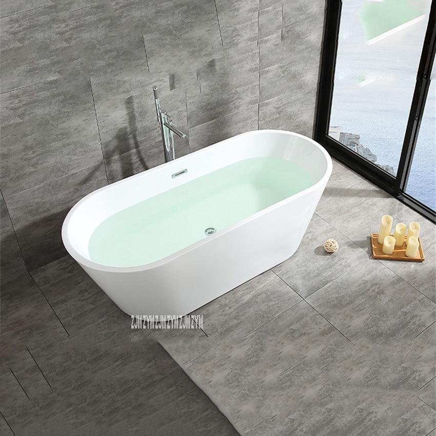 SY-2013 1.5m adulto acrílico casa banheira oval autônoma banheira moderna do banheiro s-armadilha com torneira de cobre ferragem parte-1