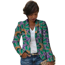 African fashion women blazers Shawl Collar design female dashiki print Ankara