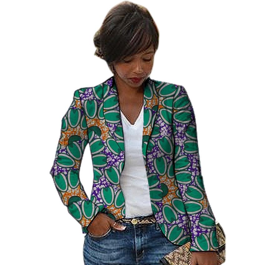 Fashion African Print Women Blazers Shawl Collar Design Female Dashiki Blazer For Ladies Ankara Suit Coat In Africa Clothing