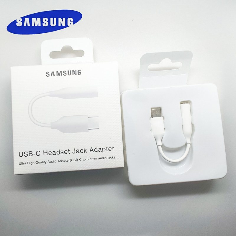 Samsung original Type C 3.5 Jack Earphone Cable USB C to 3.5mm AUX headset Adapter For SAMSUNG Galaxy S20 + NOTE 9 10