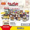 Xipoo мини Гонконгский уличный вид еды блоки алмазное Строительство игрушки рыбные шары для фруктов барбекю кабина вафельное яйцо магазин ед...