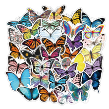 Creative-Color Sticker Notebook-Decoration Butterfly Cute Luggage Water-Cup Graffiti